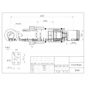 CAT324D excavator Arm cylinder