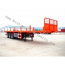 FLAT BED SEMI TRAILER, Container transport semi-trailer from China