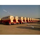 Bulk cement tanker semi trailer with diesel engine and air compressor